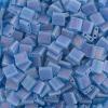 Miyuki Tila Bead 5X5mm 2 Hole Capri Blue Transparent Aurora Borealis Matte